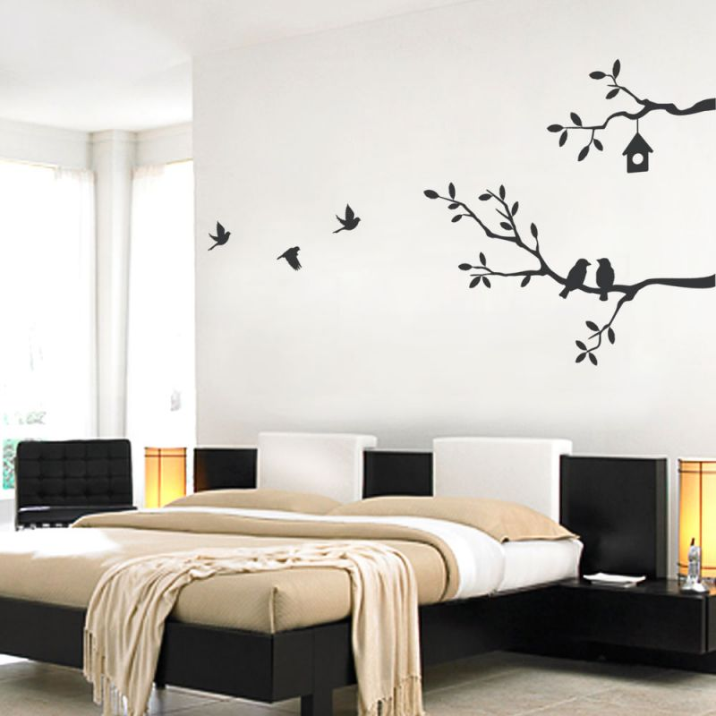 Birds and Branches Wall Decal - Black