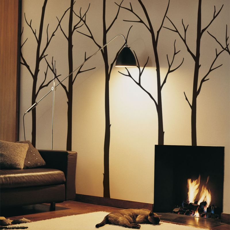 Winter Tree Wall Decal - Black