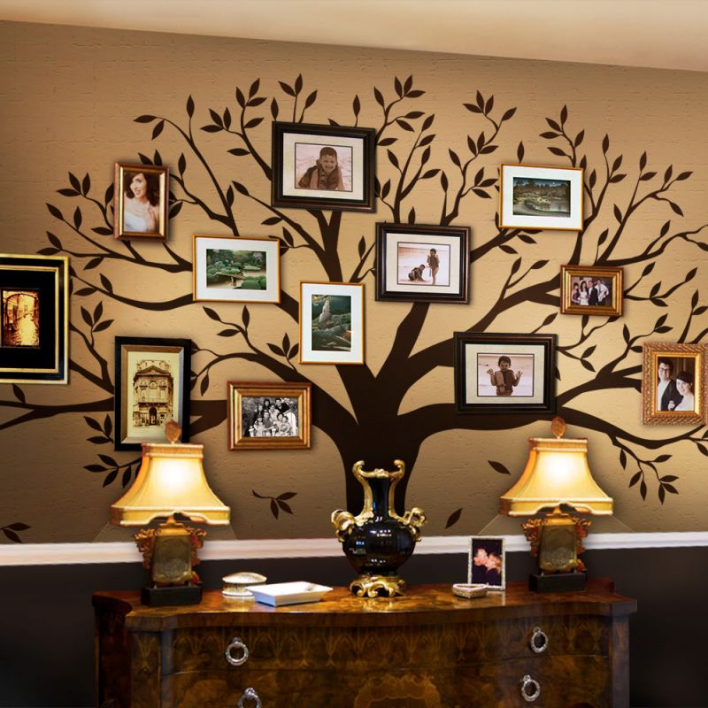 Family Tree Wall Decal - Chestnut Brown