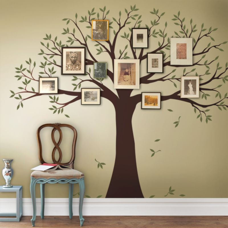 Two Color Family Tree Wall Decal - Scheme A