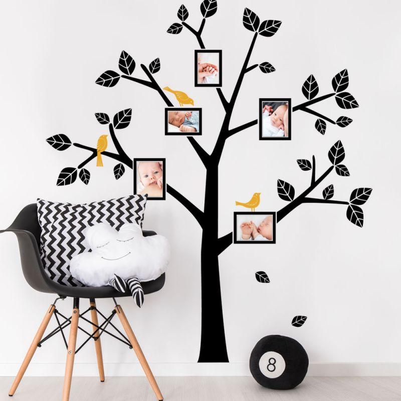 Simple Modern Family Tree Wall Decal - Scheme A