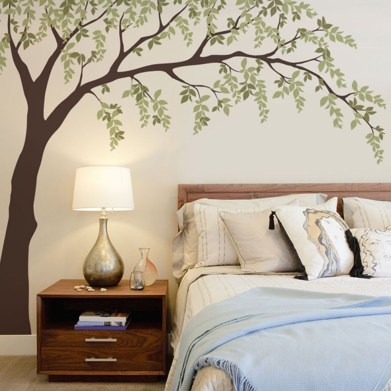 Falling Leaves Weeping Willow Wall Decal - Scheme A