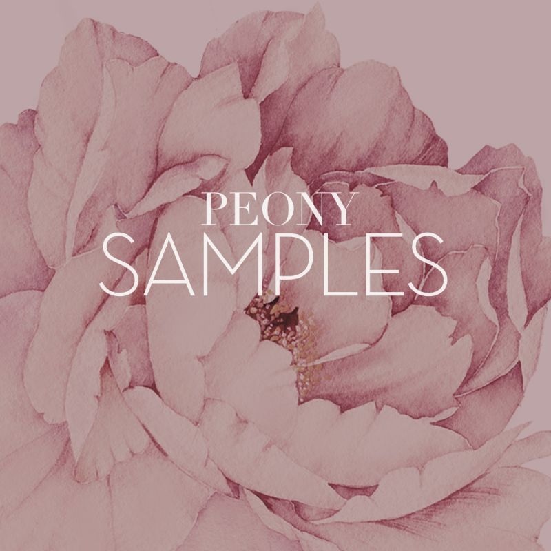 Peony Flowers Wall Sticker Samples