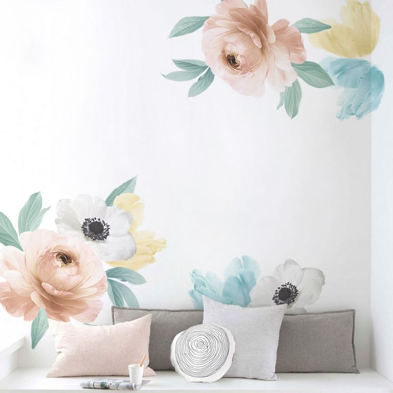 Floral Wall Sticker- Summer Pastel