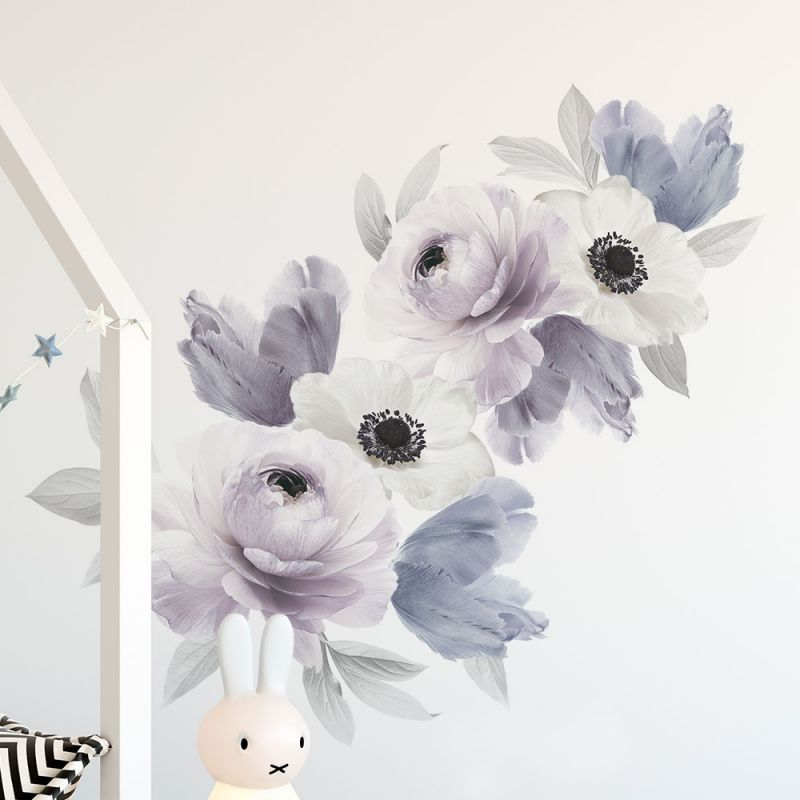 Floral Wall Sticker- Peaceful Purple