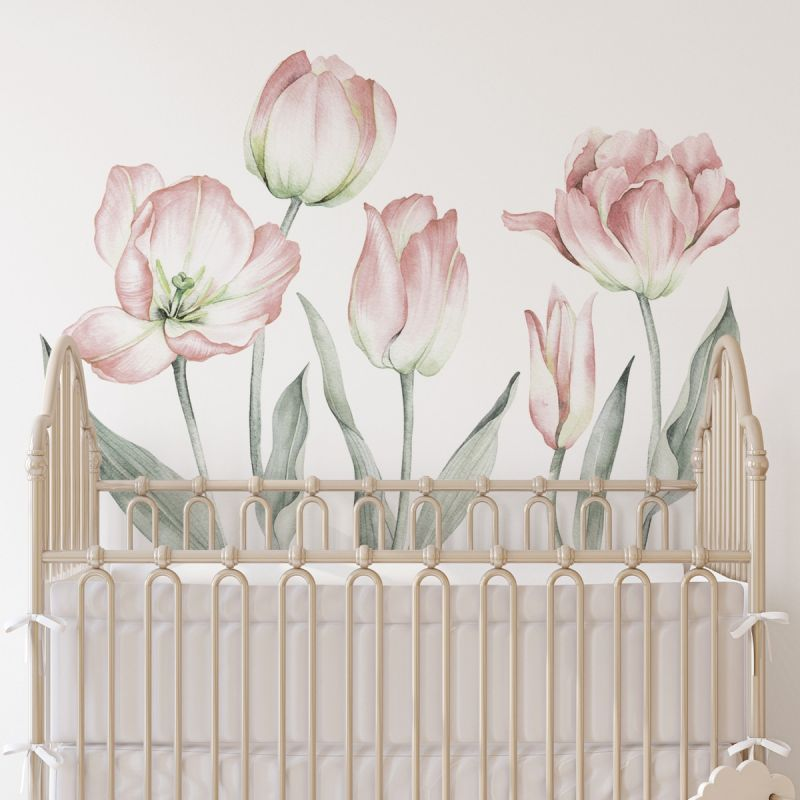Garden Tulips - Peel and Stick Wall Sticker