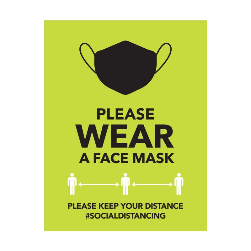 Please Wear A Mask - Wall Sticker Sign - Retail Style