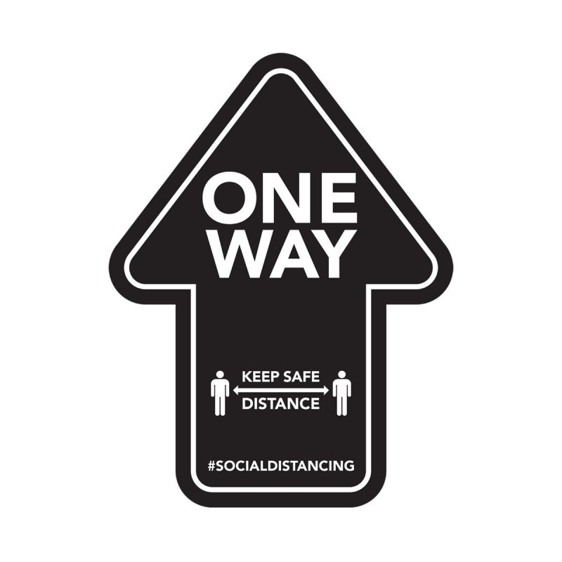 One Way - Floor Sticker - Retail Style - 4pk