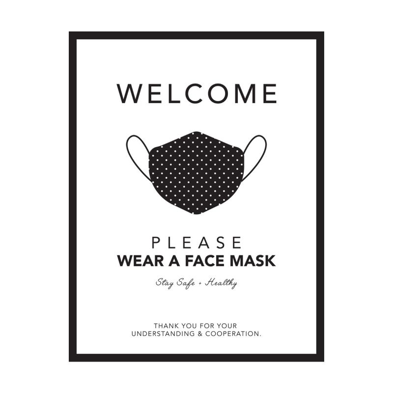 Please Wear A Mask - Wall Sticker Sign - Boutique Style