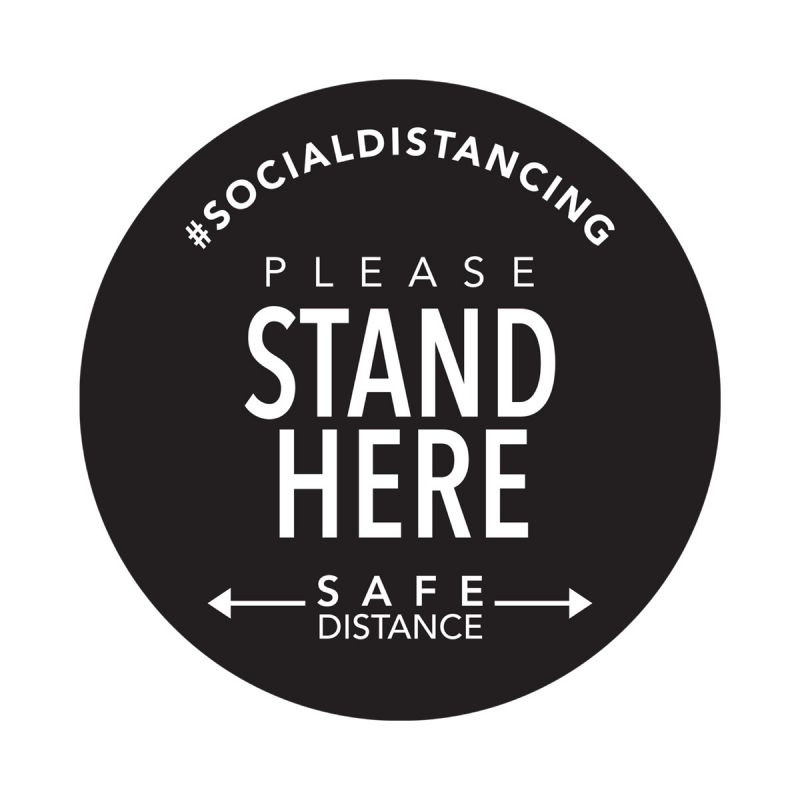 Stand Here - Floor Sticker - Boutique Style - 5pk