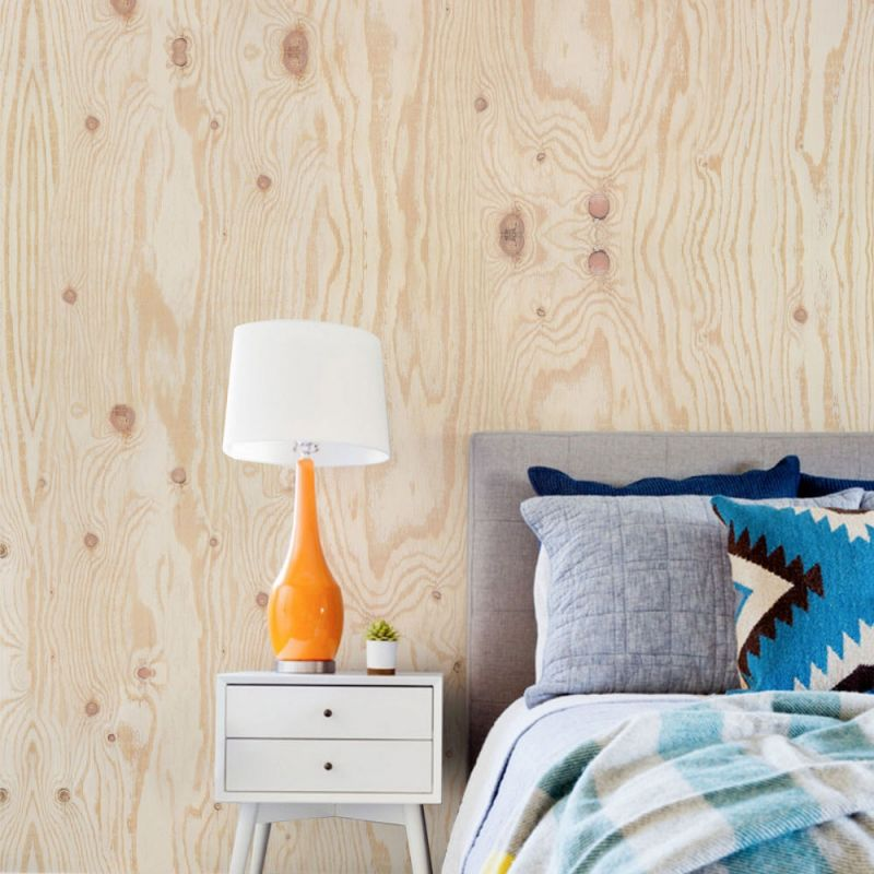 Plywood Wood Accent Wallpaper