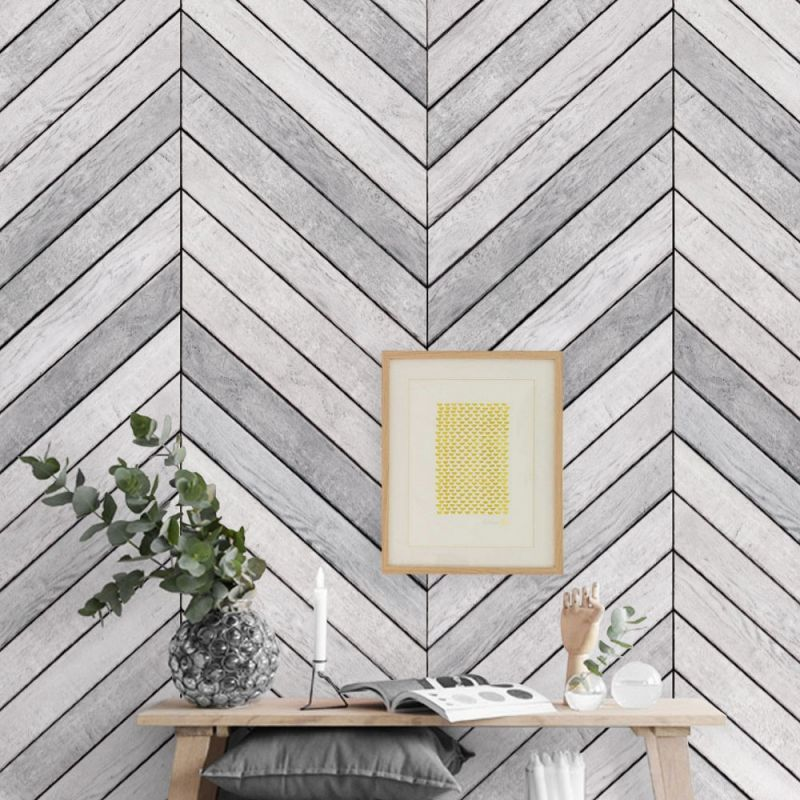 Chevron Wood Accent Mural