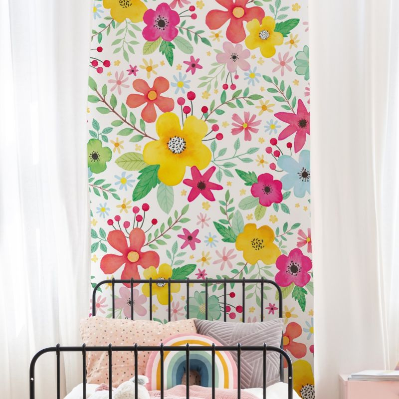 Bright Pop Flowers - Peel and Stick Mural