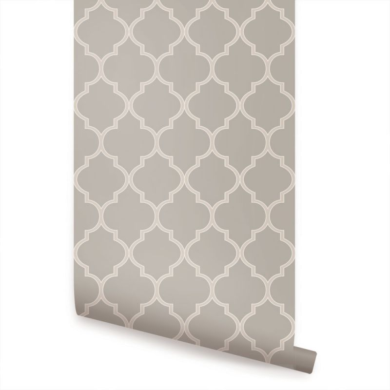 Moroccan Wallpaper - Warm Grey