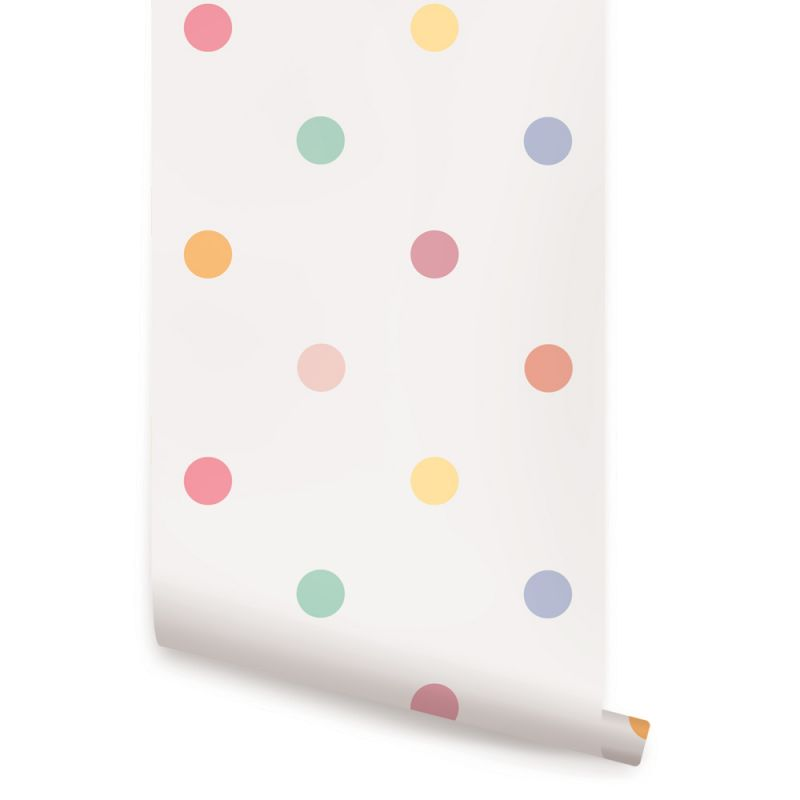 Polka Dot Wallpaper - Pink
