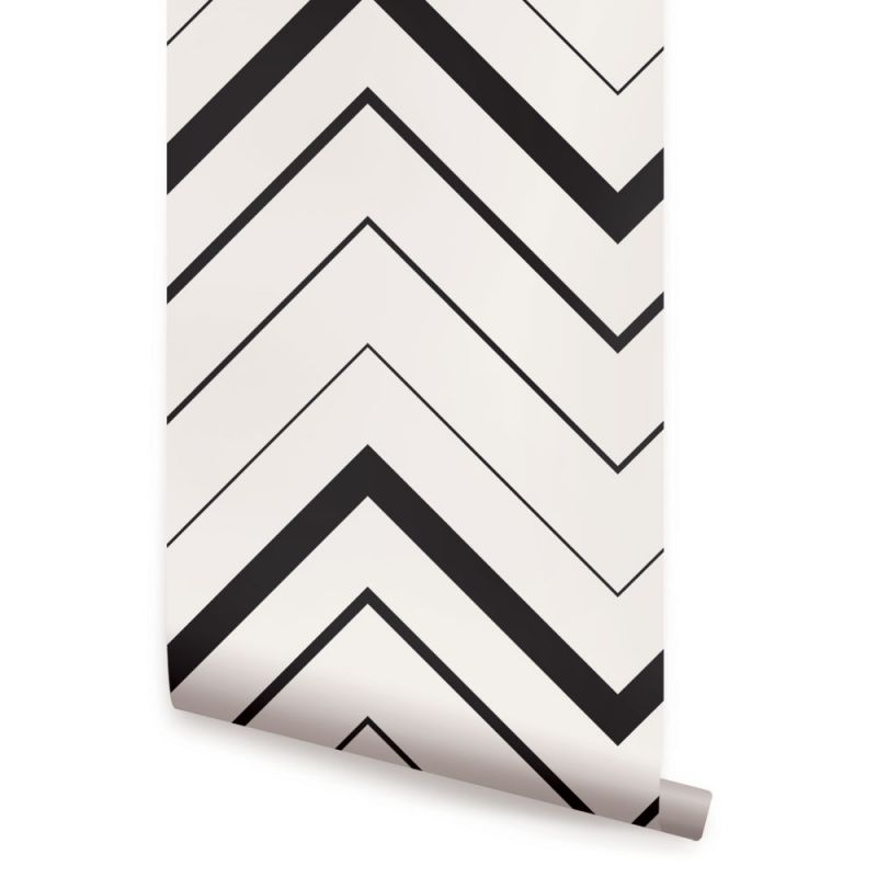 Chevron Bold Wallpaper - Black