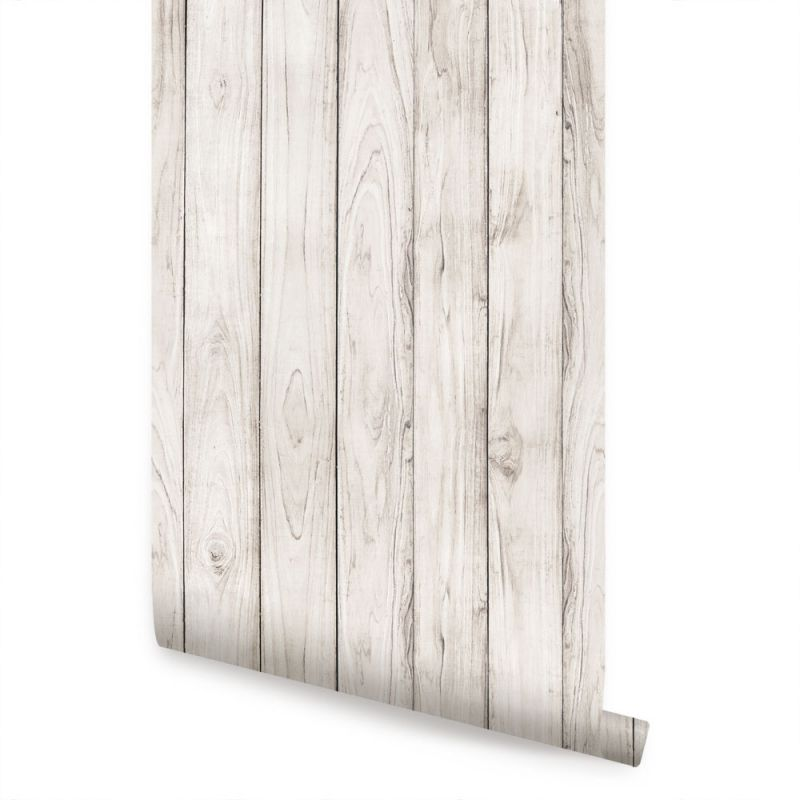 Wood Wallpaper - White