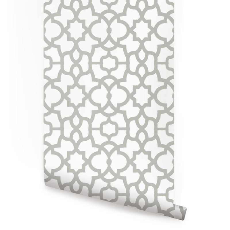 Trellis Wallpaper - Light Grey