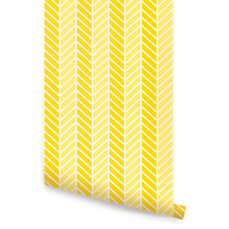 Herringbone Two Tone Wallpaper - Yellow