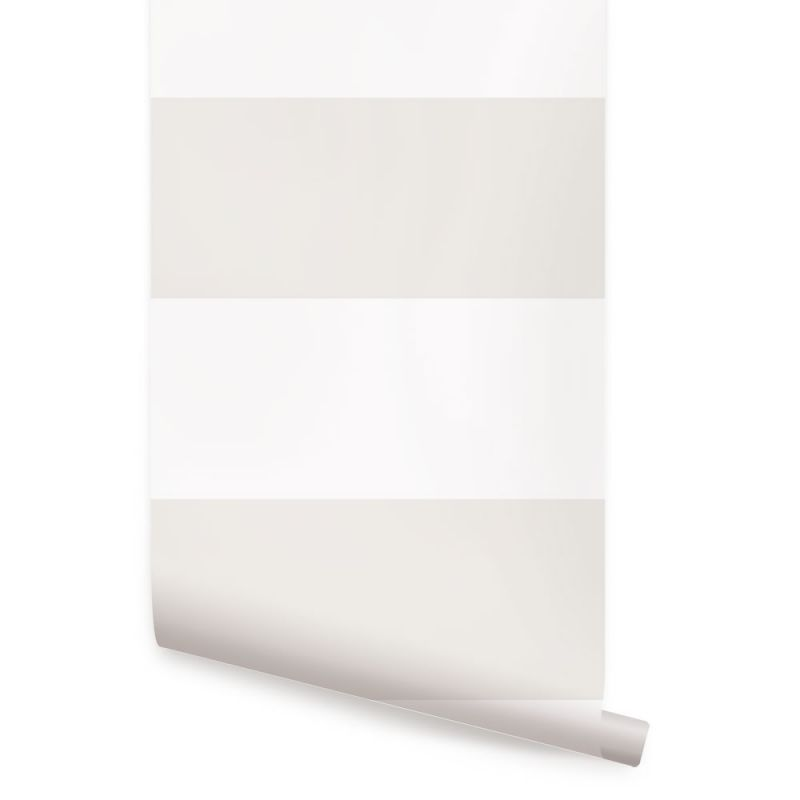 Horizontal Stripe Bold Wallpaper - Beige