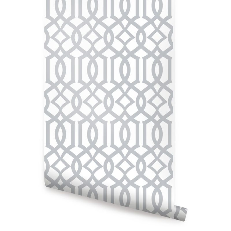 Modern Trellis Wallpaper Peel and Stick