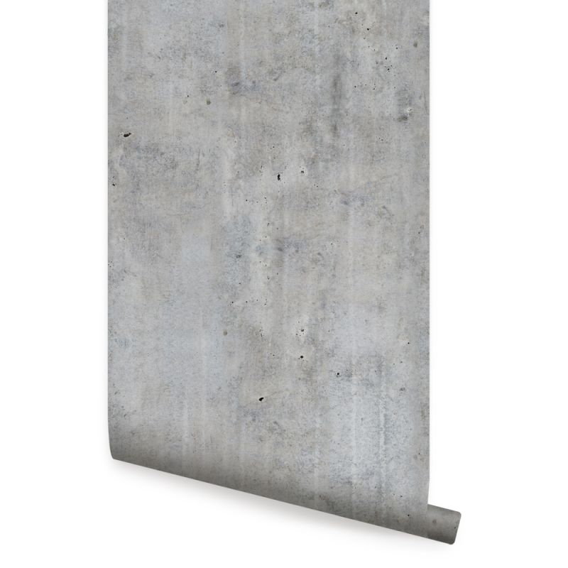 Cement Concrete Wallpaper - Dark Grey