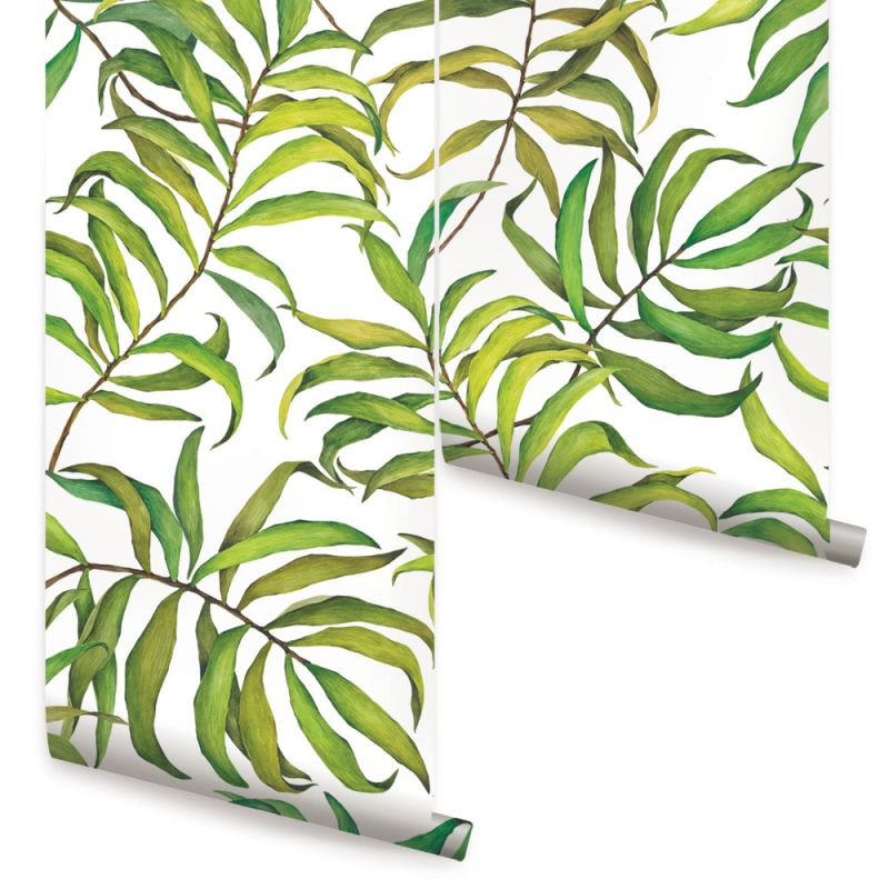 TROPICAL LEAVES- LARGE - PEEL AND STICK Wallpaper