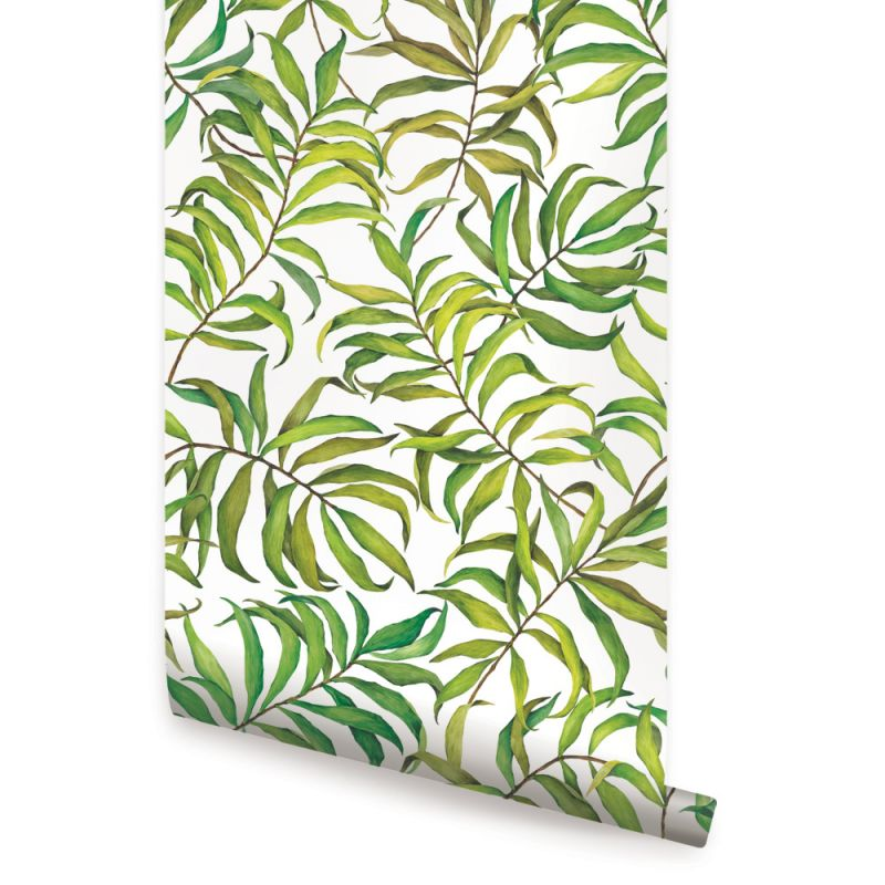 Tropical Leaves Peel and Stick Wallpaper