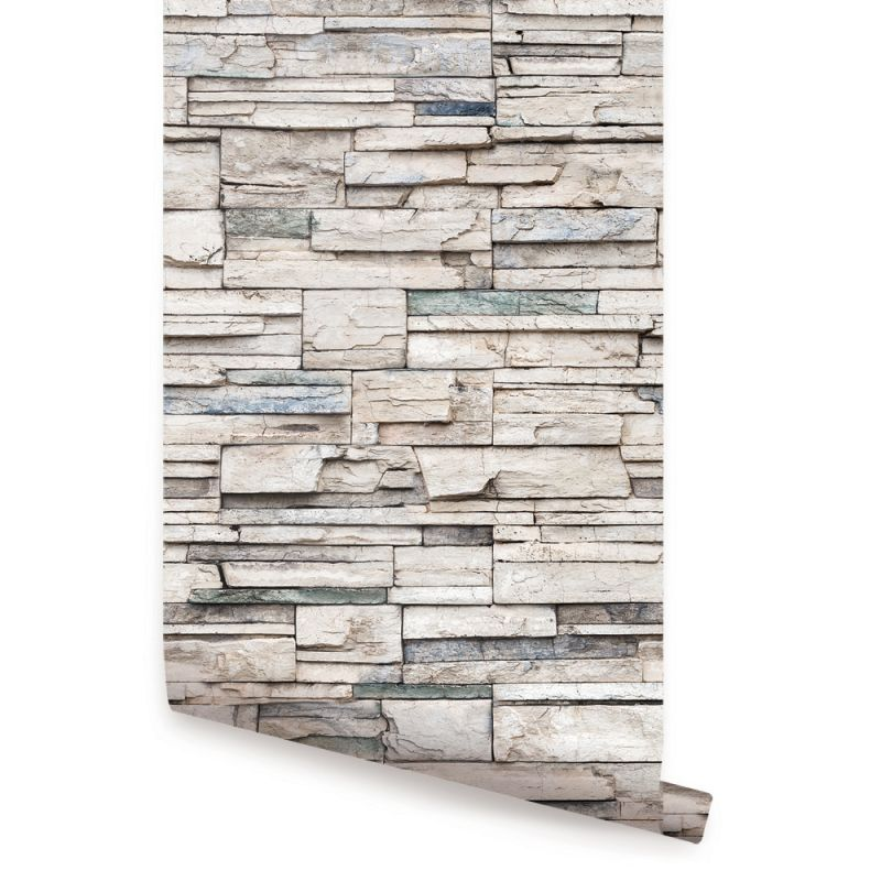 Faux Stone Peel and Stick Wallpaper