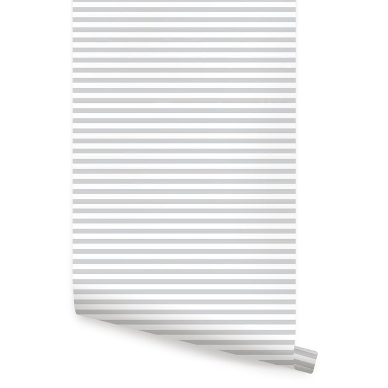 Thin Horizontal Stripes Wallpaper - Peel and Stick
