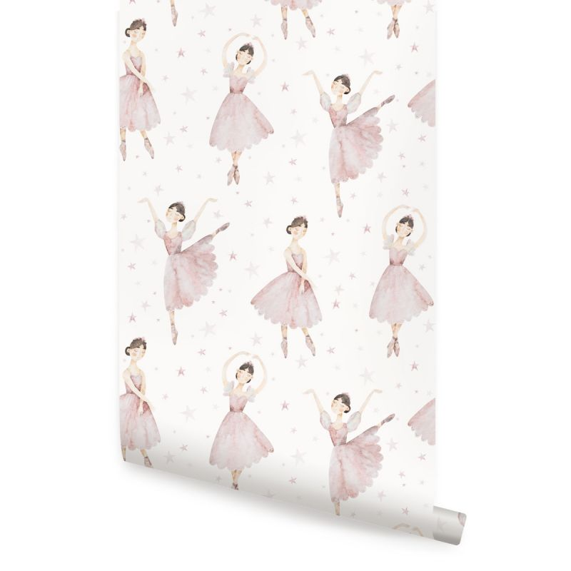 Ballerina Wallpaper- Pink
