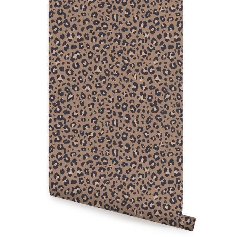 Animal Print Leopard Peel and Stick Wallpaper - Dark Natural