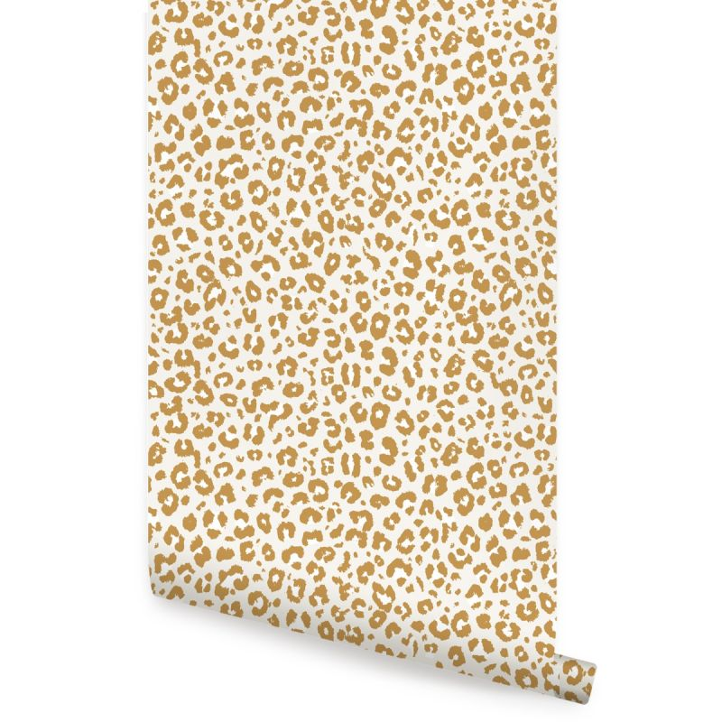 Animal Print Leopard Peel and Stick Wallpaper - Gold