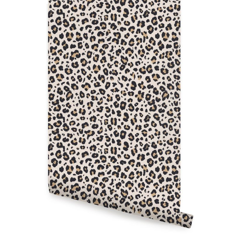 Animal Print Leopard Peel and Stick Wallpaper - Light Natural