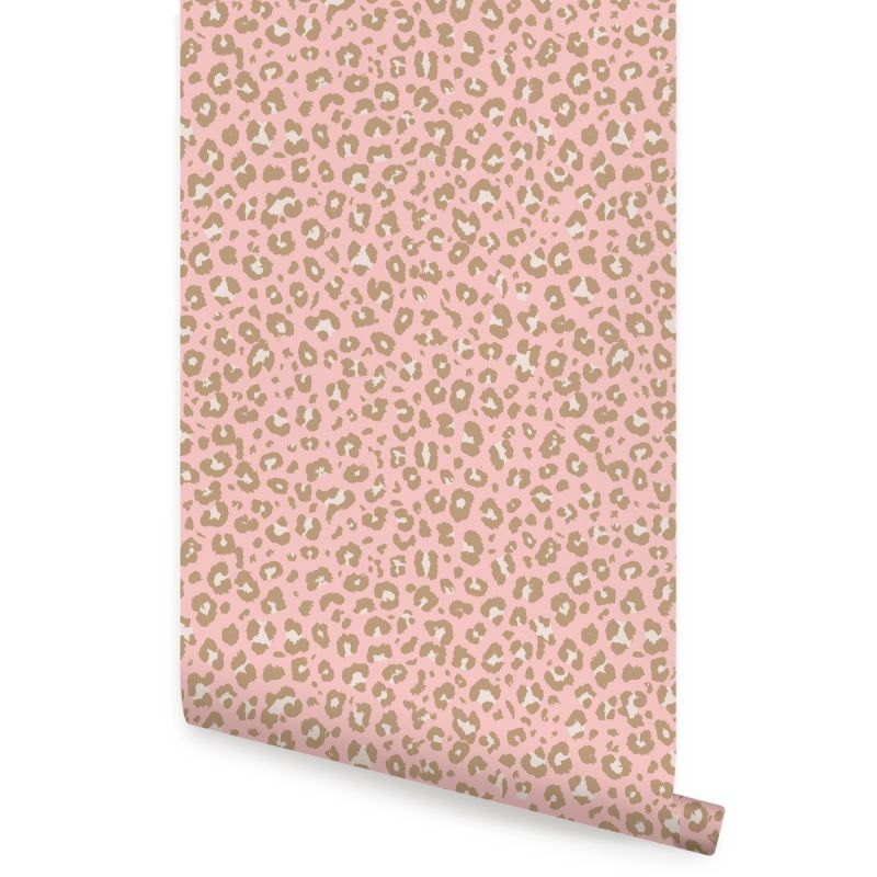 Animal Print Leopard Peel and Stick Wallpaper - Pink