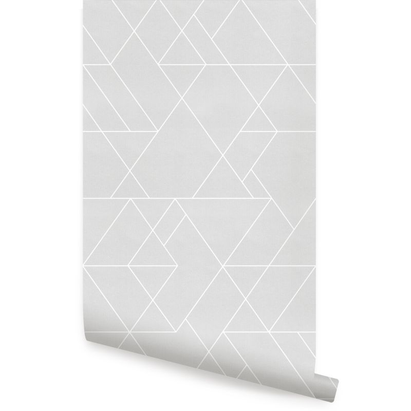 Triangle Geometric Art Deco Lines - Grey