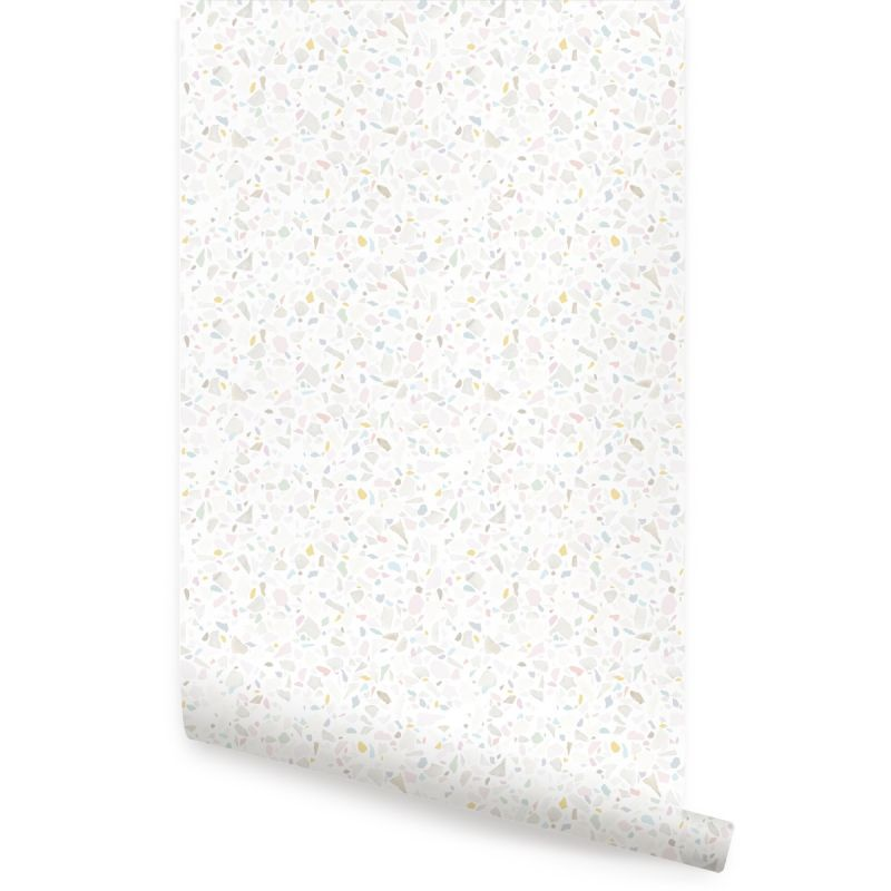 Terrazzo Peel and Stick Wallpaper - Pastel