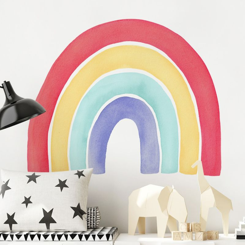 Watercolor Rainbow Peel and Stick Wall Sticker