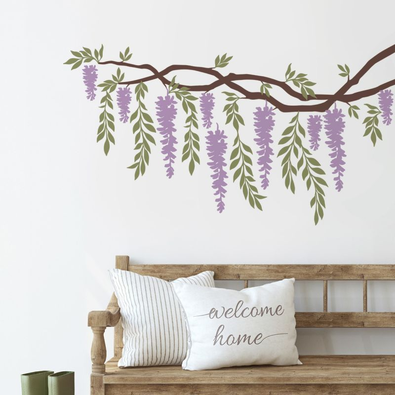Wisteria Branch Vines Decal