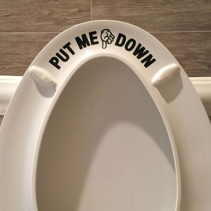 Put Me Down Toilet Decal - Black