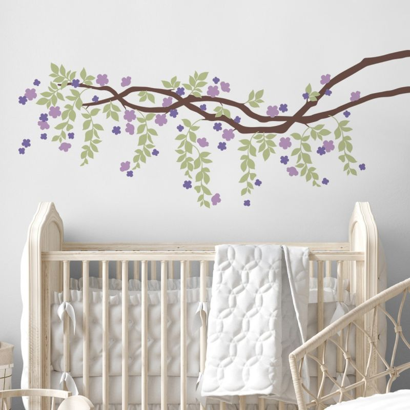 Cherry Blossom Branch Vines Decal